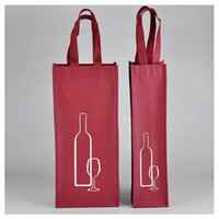 Wholesale wholesale wine totes - Red Wine Shoppong Bags Claret Non Woven Fabric Tote Pouch Square Resuable Eco Friendly Storage Bag Popular 1 1md2 B