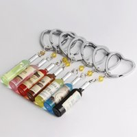 Wholesale manufacturer key - 2018 Keychains Personality small accessories imitation beer bottles key chain, mobile phone package manufacturers wholesale free shipping.