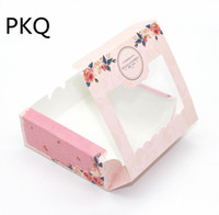 Wholesale wholesale for cupcake packaging - 4.21  20pcs Cake Packaging Pink cardboard Paper Boxes with window For Cupcake Dessert Baking  Party Favors Packing box