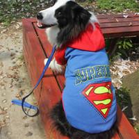 envío gratis sudaderas para perros al por mayor-Hot Wholesale-Big Pet Dog Clothes Coat Hoodie Sweater Disfraces Talla XXL-9XL para perros grandes Envío gratis