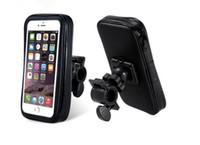 bisiklet için destek toptan satış-Motosiklet bisiklet telefon tutucu cep telefonu iphone 5 5 s için destek standı 5c 4 s 6 artı su geçirmez kılıf çanta ile gps bisiklet tutucu