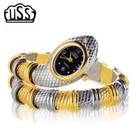 новые дизайны часов для девочек оптовых-Новый стиль CUSSI змея Shaped часы мода часы браслет часы уникальный дизайн женщины платье часы девушка relogio feminino