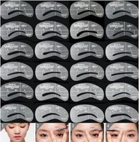 Wholesale Used Shaper - 24 Styles Eyebrow Stencils Grooming Eyebrow Shaping Kit DIY Makeup Shaper Drawing Guide Card Set Template Tool Easy Use CCA8766 300set