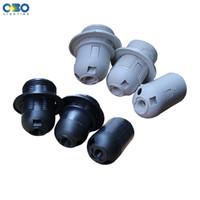 colgante de plastico blanco luz al por mayor-1 UNIDS lámpara de plástico E14 / E27 portalámparas colgante zócalo retro lámpara antigua accesorios luz blanca / negro