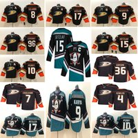 kariya jersey venda por atacado-Anaheim Ducks 15 Ryan Getzlaf Jersey 9 Paul Kariya 17 Ryan Kesler 4 Cam Fowler Camisolas de Hóquei
