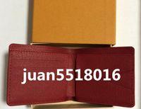 ingrosso logo genuino-Con scatola logo Paris Premium Portafoglio snella in pelle rossa X Rosso Portafoglio nero Borsa sportiva per esterni in vera pelle