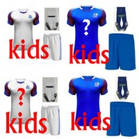 Wholesale Socks Teen - 2018 Iceland Kids kits T-shirt +socks soccer jerseys 2018 Iceland teens shirts New Leisure Best Quality Free ship
