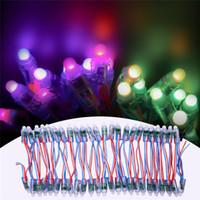pixel dc großhandel-12mm WS2811 2811 IC farbenreiche Pixel LED-Modul String Licht DC 5 V Eingang IP68 wasserdicht RGB Digital LED Pixel Licht für Buchstaben Zeichen