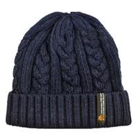 chapeau de béret homme bleu achat en gros de-LBFS Hot ZIYI Man Bonnets Crochet Chapeaux Extérieur Chaud Tricot De Laine Chapeau Turban Tricoté Chapeau Marine Bleu