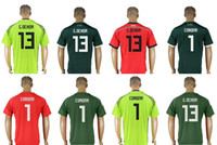 Wholesale corona black - Mexico Team 2018 #1 José de Jesús Corona 13 Guillermo Ochoa GK Mens Uniforms Football Shirts Sports Team Custom Pro Soccer Jerseys For Sale