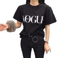 ingrosso magliette grafiche divertenti per le donne-Bianco Nero Rosso Divertente T Shirt Donna T Shirt Femme Tops Stampa T shirt oversize Taglie forti O-collo VOGUE Leer Cute Graphic