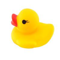 bebek duş ördek iyilikleri toptan satış-Yaz Komik 10 ADET Sıkma Çağrı Lastik Ördek Ducky Duckie Bebek Duş Doğum Günü Iyilik Çocuklar Açık Çocuk Toys18mar05
