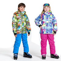Boys Girls Ski Suit Set Of Kids Waterproof Windproof Snow Pants+Jackets Set  Of Winter Sports Child Thickened Snowboard Clothes 49d78dfb2