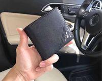 ücretsiz gönderim erkek cüzdan toptan satış-Yeni 2018 Erkek Cüzdan Hakiki Deri Tasarımcısı Erkek Cüzdan Kısa Çanta Para Cebi Kart Sahipleri Ile Ücretsiz Kargo