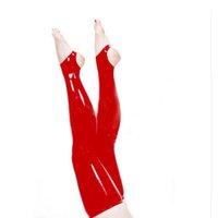 ingrosso scarpa coscia pura-nuove donne esotiche femminile nero rosso bianco fatto a mano gotico Latex puro colore sottile tallone di cekc Calze lunghe Stivali coscia Calze