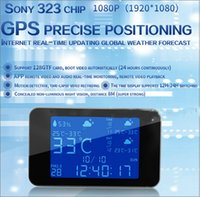 Wholesale spy clock motion activated - 1080P Full HD WiFi Weather Clock Camera H.264 Motion Activated IR Night Vision WiFi Wireless Mini Cameras Sony Lens IP Spy Cam Camcorder