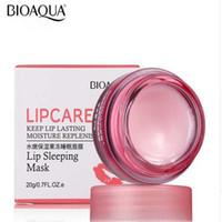 labios de fresa al por mayor-BIOAQUA Brand Strawberry Lip Sleeping Mask Cuidado de la piel Exfoliante Labios Bálsamo Hidratante Nutrir Lip Plumper Crema Hidratante 20g