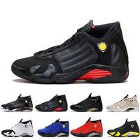 8c4cbd3586f56d Classical 14 XIV Basketball Shoes Men Fusion Purple last shot Black Fusion  Varsity Red 14s XIV Playoffs Sneakers Eur Size 41-47