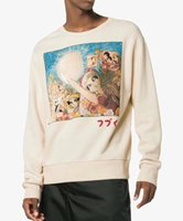 Wholesale clothes japan online - 18FW Japan Luxury Winter Europe Italy Candy Candy Cartoon Hoodie Fashion Men Clothes O Neck Pullover Sweatshirt Women Hoodies