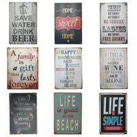Wholesale paintings india for sale - Group buy Vintage Poetry cm Tin Sign Life Is Good At The Beach Tin Posters Save Water Drink Beer Iron Painting High Quality ZB