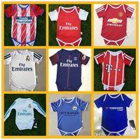 Wholesale Dress Rips - baby BB RONALDO JERSEY 17 18 lovely baby REUS Robben football jersey dress 2017 NEYMAR JR POGBA Messi OZIL hazard baby jersey