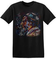 Wholesale monks clothing online - T Shirt Jazz Monk Art Graphic Print Men Cool Retro Black Artist Band Tee A Tee Shirt Hipster Harajuku Brand Clothing