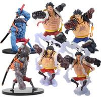 eine figurine großhandel-14-18cm One Piece Banpresto Abbildung Colosseum Die Bound Man Affe D Luffy Alptraum Gear Fourth Champion Figur PVC Modell Spielzeug