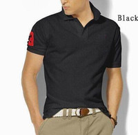 Wholesale organic cotton jersey - Brand New Men's Small Horse Polo Shirt For Men Desiger Polos Men Cotton Short Sleeve shirt clothes jerseys golftennis Plus Size S- 5XL