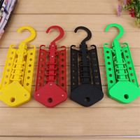 Wholesale Clothes Drying Hangers - Colourful Coat Hanger Non Slip Dry And Wet Dual Purpose Plastic Hangers Multi Function Folding Clothes Rack 2 1rl C R