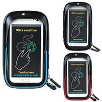 трубка велосипедного руля оптовых-WHEEL UP Водонепроницаемая передняя сумка для велосипеда MTB Road Bike Top Tube Frame Руль с сенсорным экраном Сумка 6 дюймов Велоспорт Чехол телефон