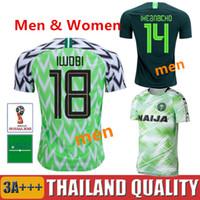 8800f4f3eba18 2018 A nigéria Camisolas de futebol da Copa do Mundo IWOBI SHEHU longe Nigeria  camisa de futebol verde 18 19 IHEANACHO OBI NDIDI Camiseta daqui mulheres  ...