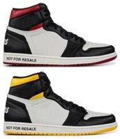 baloncesto masculino negro rojo al por mayor-Alta calidad 1 NRG Sin L's no para su reventa sin zapatos de baloncesto de fotos hombres 1s blanco negro rojo zapatillas amarillas con los zapatos de la caja