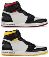 ingrosso scarpe da basket di uomini-High Quality 1 NRG No L's NON PER RIVENDITA presenti fotografie scarpe da basket degli uomini 1s Bianco Rosso Nero scarpe da tennis gialle con scarpe di sicurezza