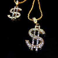 ingrosso monili di modo del dollaro-gioielli di design collana di gioielli hip hop dollari collana pendente stile punk moda calda senza spese di spedizione