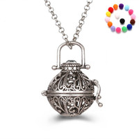 Wholesale Rose Diffuser Oil - Aromatherapy Diffuser Necklace Essential Oil Diffuser Necklaces With 31 Inch Link Chain Fashion Jewelry Holiday Gifts
