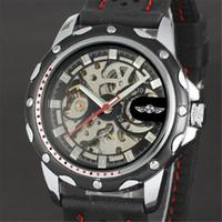 relógio de luxo vencedor venda por atacado-VENCEDOR Top Marca de Luxo Mens Relógio De Pulso Dos Homens Relógio Do Esporte Relógios Mecânicos Automáticos Esqueleto De Aço Masculino Relógio Quente 054