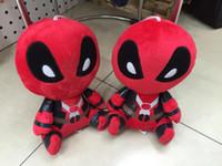 Wholesale marvel comics toys online - 20cm Marvel Movie X man Deadpool Doll Soft Spider man Plush Doll Toy Brinquedo Kids Toys Gift DDA436
