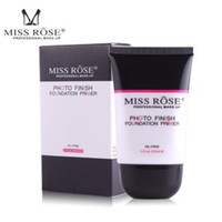 Wholesale miss rose makeup foundation resale online - MISS ROSE MAKEUP FOUNDATION Makeup Primer Base Moisturizer Pores Smoothing Transparent Face Makeup Primer