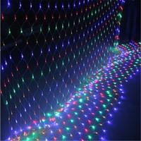 açık renkli çok renkli ışıklar toptan satış-Festivali Led Işıkları Açık Sıcak Beyaz Mavi Renkli Çim Balıkçılık Net Işıkları Noel Festivali Düğün Dekorasyon Mfd44