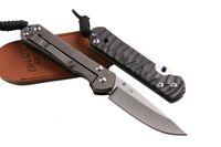 Wholesale chris reeve knife d2 for sale - CHRIS REEVE CR Large Sebenza D2 Blade Drop Point Blade Rescue knife Plain Carbon Fiber Version Handle Pocket Folding Knives P131Q