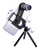 lente de zoom para celular venda por atacado-Lente Telescópio Telemóvel Universal 8x Zoom Telefoto Câmera Long-focus Focusable Lens Lupa Com Tripé