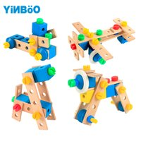 Wholesale Wooden Cars For Kids - Baby toys for children wooden game car hot wheels kids toy vehicle DIY tool for boy gift-70 pcs