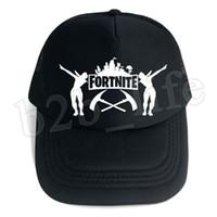 Wholesale hat male - 10pcs Fortnite Cap man baseball cap male snapback summer Breathable hats bone man hip hop hat for women funny Quick drying caps MMA183