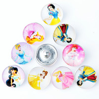Wholesale Queen Fitted - 10pcs lot Snap Jewelry Lot Queen Princess Glass Snap Buttons fit 18mm 20mm DIY Bracelet For Jewelry Making