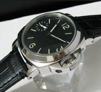 9ccfaa328da Estilo Casual dos homens 44mm estéril preto dial aço inoxidável mecânica mão  de enrolamento 6497 relógio de pulso