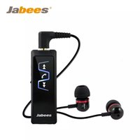 Wholesale ear clips headphones - Jabees IS901 V3.0 Bluetooth Headset Stereo Collar Clip Bluetooth Earphone Receiver Wireless Headphones Earphone Music Player