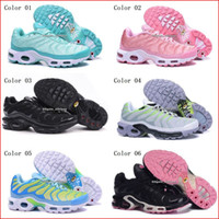 Wholesale Womens Discount Running Shoes - Discount Womens Sneakers Classic Tn Women Running Shoes Black Red White Sports Trainer Woman Surface Breathable Casual Shoes