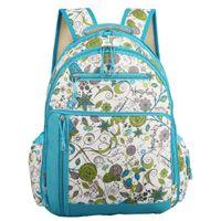 bebek mavisi bebek bezi çantası toptan satış-En Kaliteli Açık Mavi Çiçekler Baskı Sırt Çantası Bebek Bezi Değiştirme Bezi Nappy Çanta Su Geçirmez Mumya Bag-LX130