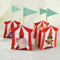 Wholesale circus party decorations resale online - 10pcs Cute Circus Theme Party Supplies Cartoon Candy Box Kids Birthday Party Decorations Baby Shower Supplies Candy Gift Box