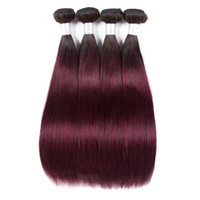 Wholesale 12 inch ombre peruvian hair extensions for sale - Group buy Fashion Lady Per colored Brazilian Straight Hair Bundles b j Human Hair Extensions Ombre Non remy Hair Weave Bundles